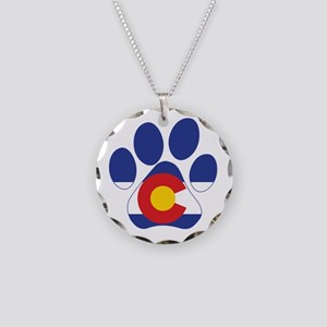 Colorado Paws Necklace Circle Charm