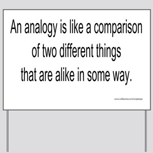 4-analogy-new Yard Sign