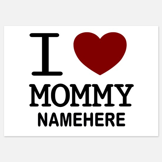 Personalized Name I Heart Mommy Invitations