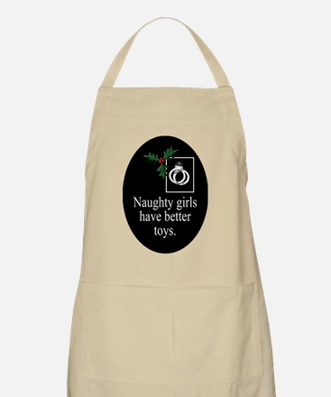 Naughty Girls oval ornament Apron