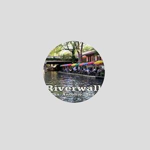 Riverwalk, San Antonio,TEXAS Mini Button