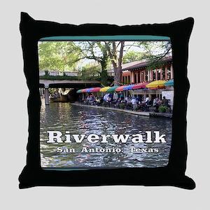 Riverwalk, San Antonio,TEXAS Throw Pillow