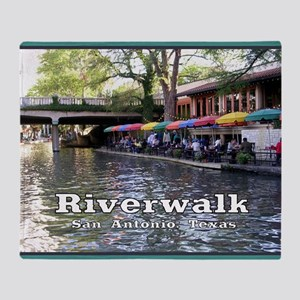 Riverwalk, San Antonio,TEXAS Throw Blanket