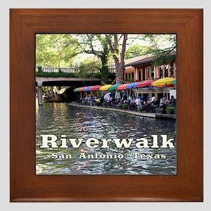 Riverwalk, San Antonio,TEXAS Framed Tile