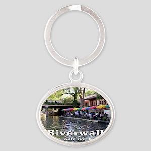 Riverwalk, San Antonio,TEXAS Oval Keychain