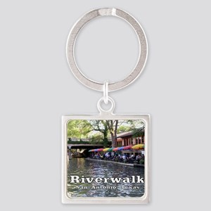Riverwalk, San Antonio,TEXAS Square Keychain