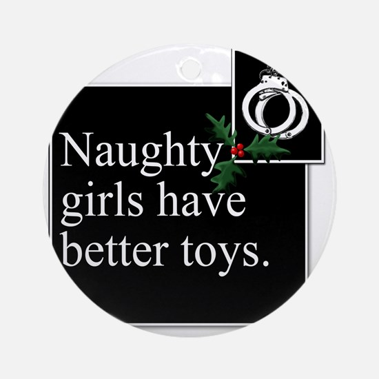 Naughty Girls Square Round Ornament