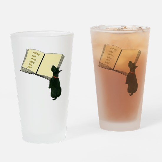 2-dog said Drinking Glass