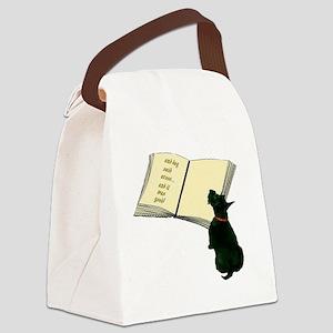 2-dog said Canvas Lunch Bag