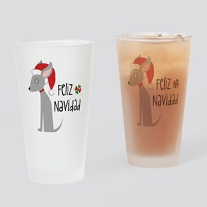Feliz Navidad Chihuahua Drinking Glass