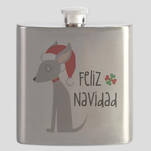 Feliz Navidad Chihuahua Flask