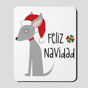 Feliz Navidad Chihuahua Mousepad