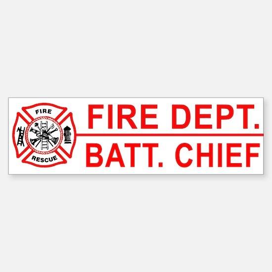 Fire Battalion Chief Bumper Bumper Bumper Sticker