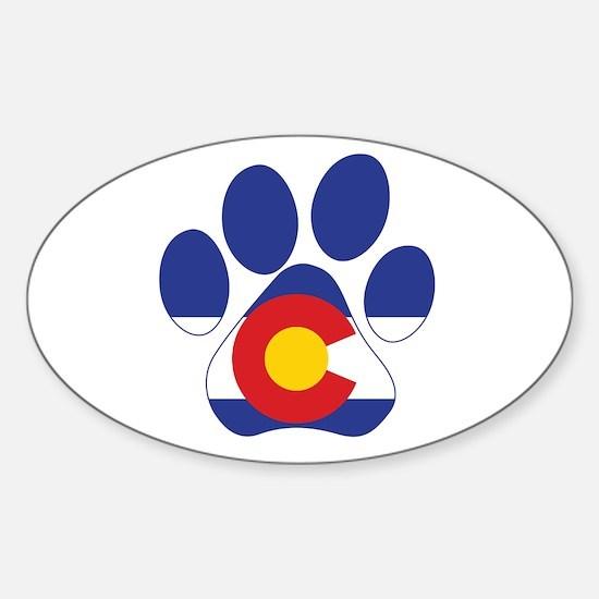 Colorado Paws Sticker (Oval)