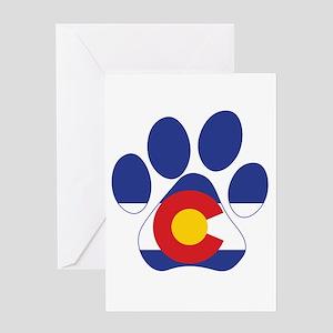 Colorado Paws Greeting Card