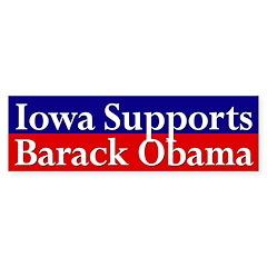 Iowa Supports Barack Obama bumper sticker