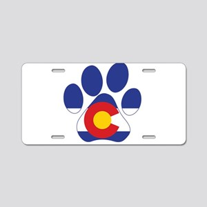 Colorado Paws Aluminum License Plate