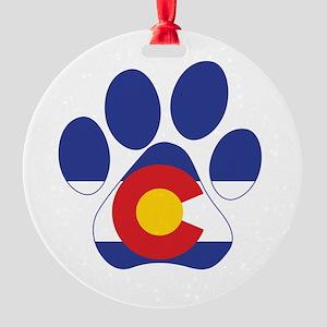 Colorado Paws Round Ornament