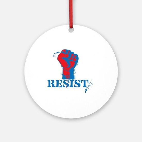 Resist Round Ornament