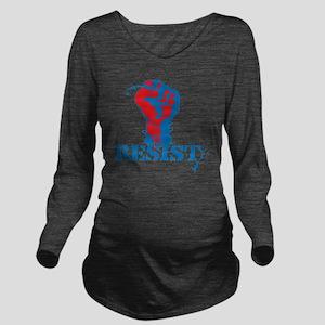 Resist Long Sleeve Maternity T-Shirt