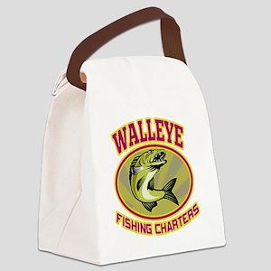 walleye fish fishing charters Canvas Lunch Bag