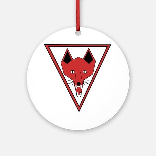 u-255_Grinning Fox Round Ornament