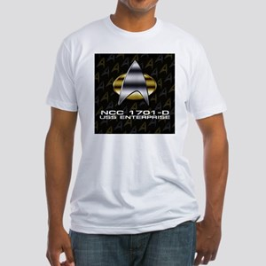 2-ent-d-chrome-badge sq Fitted T-Shirt