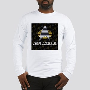 2-ent-d-chrome-badge sq Long Sleeve T-Shirt