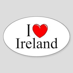 """I Love Ireland"" Oval Sticker"