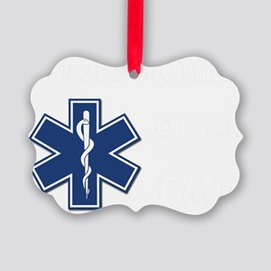 proud mother emt white Picture Ornament