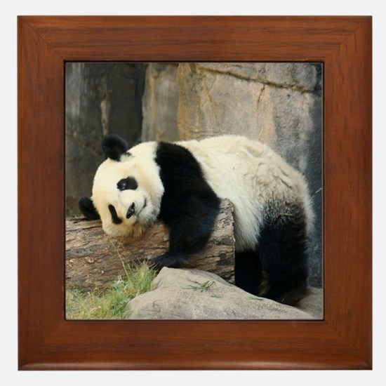 Copy of panda1 Framed Tile