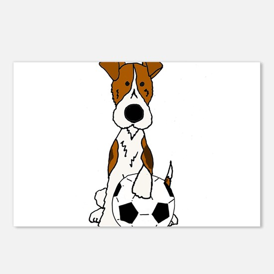 Fox Terrier Soccer Cartoo Postcards (Package of 8)