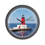 Menominee North Pierhead Light Wall Clock