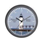 Manistee North Breakwater Light Wall Clock