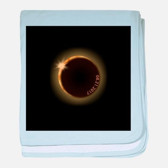2017 total solar eclipse baby blanket