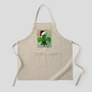 Christmas fleur de lis throw blanket Apron