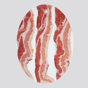 bacon-in-streifen Oval Ornament