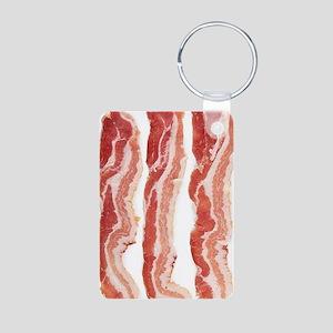 bacon-in-streifen Aluminum Photo Keychain