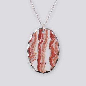 bacon-in-streifen Necklace Oval Charm