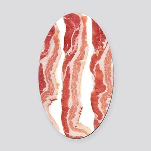 bacon-in-streifen Oval Car Magnet