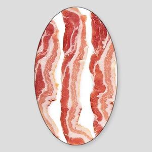 bacon-in-streifen Sticker (Oval)