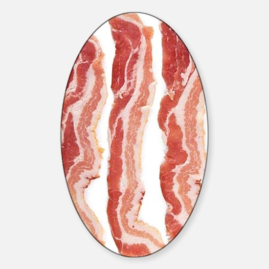 bacon-in-streifen Sticker (Oval)