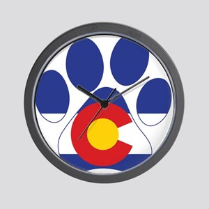 Colorado Paws Wall Clock