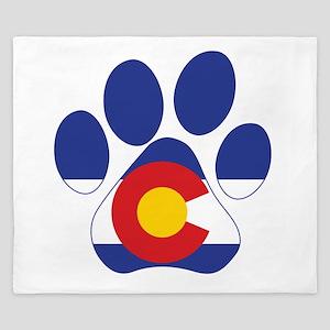Colorado Paws King Duvet