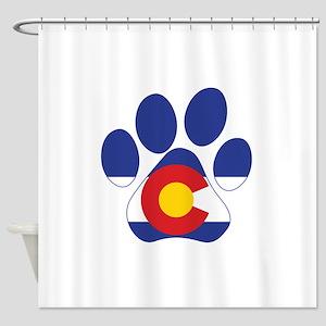 Colorado Paws Shower Curtain