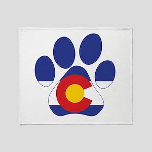 Colorado Paws Throw Blanket