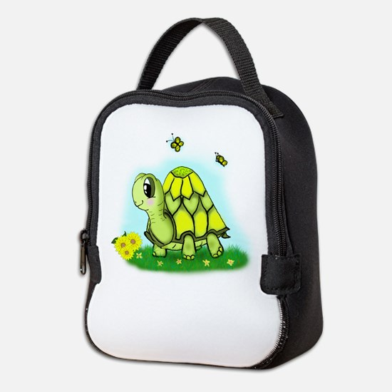 Turtle Sunflower and Butterflies Neoprene Lunch Ba