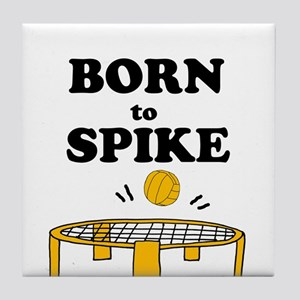 Born to Spike Spikeball Art Tile Coaster