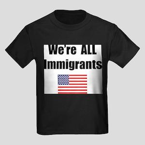 We're All Immigrants Ash Grey T-Shirt