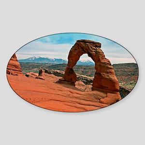 Delicate Arch in Moab, Utah Sticker (Oval)